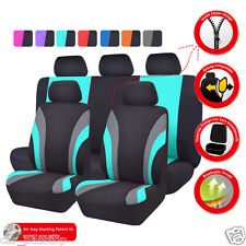 Universal Car Seat Covers Black Mint Full Set Airbag Compatible Split Rear Seat