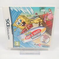SpongeBob SquarePants Surf & Skate - Nintendo DS/DSi/3DS - 2011 - THQ - Complete