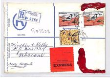 AN362 1982 BOTSWANA *Francis-Town* Registered Stationery Cover Gaborone EXPRESS