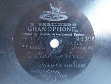 """78rpm E. BERLINER GRAMOPHONE 7"""" - C'ETAIT UN REVE (MAQUIS) - CHANTE AVEC PIANO"""
