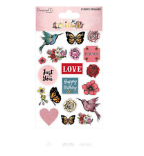 Dovecraft Premium Folkland Paper Craft Collection - Puffy Stickers