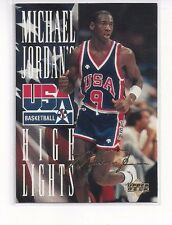 1994 UPPER DECK USA BASKETBALL INSERT JORDAN HIGHLIGHTS MICHAEL JORDAN #JH4