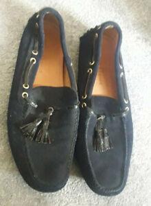 The Original Car Shoe (by Prada) - Navy Blue Suede Driving Shoe - UK size 9