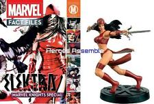 MARVEL FACT FILES ELEKTRA SPECIAL MAGAZINE & FIGURINE EAGLEMOSS MARVEL KNIGHTS