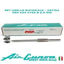 Set Ugello Materiale + Astina per Air Gunsa AZ3 HTE2 - Nozzle Needle Set 2.5 mm