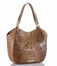Brahmin Thelma Shoulder Bag Tote Toasted Almond Melbourne Brown Leather hobo Nwt