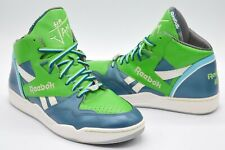 VNDS Reebok Sir Jam Series Hightops Rare Retro Pump Green/Blue/White sz 10