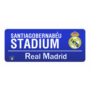 REAL MADRID PURPLE STREET SIGN STEEL STREET SIGN OFFICIALLY LICENSED