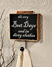 New Bath Laundry VERY BEST DAYS END IN DIRTY CLOTHES Burlap Wall Hook Sign