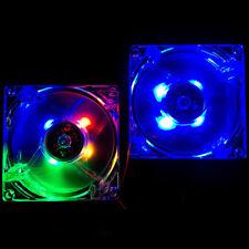 80mm/80x80x25mm 12V Computer/PC/CPU Silent Cooling Case Fan 4 Color LED Light