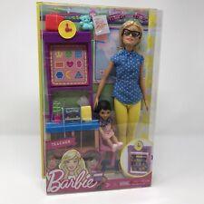 Barbie Careers Teacher Doll Play Set & Student Classroom Setting Play