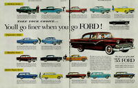1955 Ford The Fine Car of It's Field '55 Ford Vintage Print Ad 3142