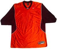 Virginia Tech Hokies NCAA Football Jersey Blank Authentic Orange Maroon
