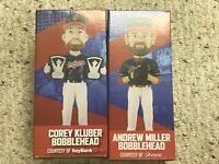 Corey Kluber, and Andrew Miller bobble heads.  2018