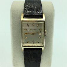 Vintage Wittnauer Swiss 10K GF 17J Unadj 84/1 Revue Mens Wrist Watch Running