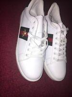 Men's Gucci White Sneaker Size 10 NEW