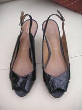 Clarks Block Patternless Peep Toe Heels for Women