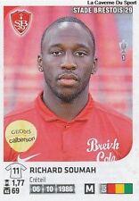 N°090 RICHARD SOUMAH # GUINEA STADE BRESTOIS VIGNETTE STICKER  PANINI FOOT 2013