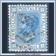 1867 Italia Regno 20 cent. celeste Tiratura Torino n. T 26  Usato