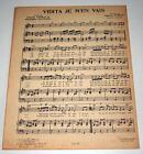 Partition vintage sheet music HUGHES AUFRAY : Vidita je m'en Vais * 60's