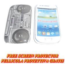 Pellicola + custodia BACK cover STEREO per Samsung I8190 Galaxy S3 S 3 mini (H5)