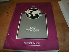 1997 FORD CONTOUR AND SVT FACTORY ORIGINAL COMPLETE OWNERS OPERATORS MANUAL BOOK