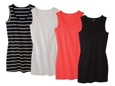(R19) ESMARA Damen Longtop Shirts Achselshirt Longshirt Tank Top Long shirt
