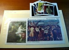 Foreign Souvenir Sheets Dominica Scott# 1430-1439 Paintings MNH 1989 H98