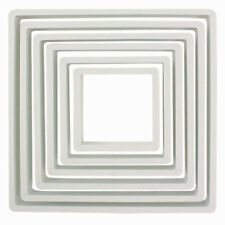 PME Quadrat-Ausstecher Set, 6teilig, viereckig, Kunststoff