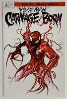 Web of Venom Carnage Born #1 Dell'Otto TRADE Variant Cover w/ COA * GEMINI SHIP