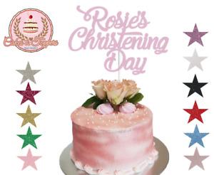 Christening Day,Custom Cake Topper Glitter Customised,Full Personalised,Any Name