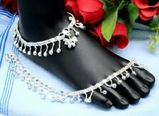 925 Sterling Silver Women Anklets, Indian Jewelry Anklets Size-10''
