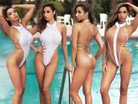 Sexy one piece swimsuit Thong bathing suit Cute womens swimwear 2019 Monokini TS