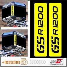 2x GS R 1200 Flourescent Yellow Adesivi TOP CASE BMW Motorrad Stickers PEGATINA