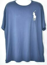 Polo Ralph Lauren Short Sleeve T Shirt Mens XL Blue Big Pony Logo Embroidered