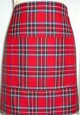 SHORT BISTRO / CAFE / PUB APRON .SCOTTISH  ROYAL STEWART TARTAN.Made in Scotland