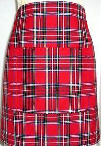 SHORT BISTRO / CAFE / PUB APRON .SCOTTISH  ROYAL STEWART TARTAN.Made in Scotland