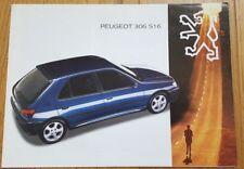 Prospekt / brochure DÉPLIANT PEUGEOT 306 S16 - 10/1993 - TRÈS BON ÉTAT