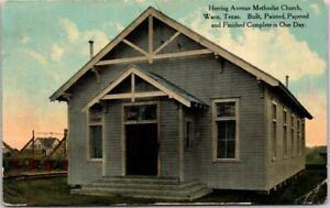 "Vintage WACO, Texas Postcard ""Herring Avenue Methodist Church"" 1911 Cancel"