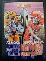 TREVOR LAWRENCE / JOE BURROW  2019 NCAA NATIONAL CHAMPIONSHIP LSU CLEMSON Card