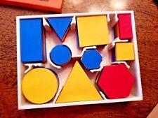 INVICTA Ed Learning Logic Attribute Block Box Desk Set Geometry Pattern Blocks