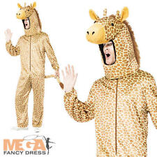 Giraffe Adults Fancy Dress Zoo Animal Mens Ladies Book Character Costume Outfit