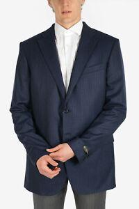 CORNELIANI men Suit Jackets 56 IT Pinstripe Blue Single Breasted Blazer LEADE...
