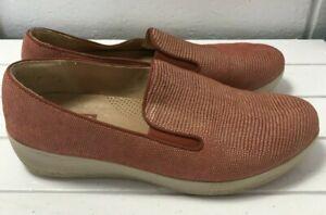 Ladies Burnt Orange Suede Slip On FitFlop Shoes - UK Size 6   B22