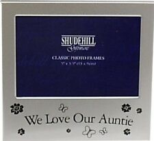 """We Love Our Auntie 5"""" X 3"""" Message Photo Picture Frame Aunty - F3592"""