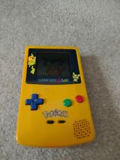 Nintendo Game Boy Color Pokemon Edition with Pokemon yellow missing batt cover