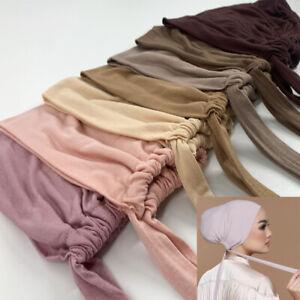 Fashion Women's Modal Hijab Turban Scarf Stretch Hat Soft Head Wrap Cap HOT Sale