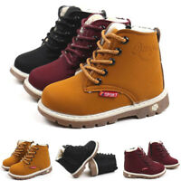 Kids Winter Warm Boys Girls Martin Sneaker Boots Child Baby Casual Shoes Size