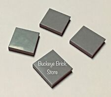 6 x LEGO 2460 Plaque gris bluish grey gray Plate Tile 2x2 With Pin NEUF NEW