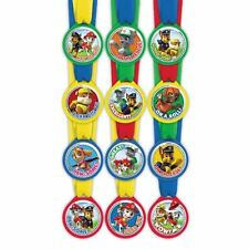 12 Paw Patrol Children's Birthday Party Loot Favour Award Medals